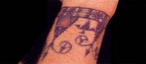 dragon leg tattoo