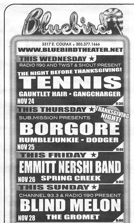 11-28-2010 Denver, CO - Bluebird Theater